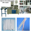 고속 Single Drinking Straw Filling 및 Straight Flexible Straw를 위한 Packaging Machine