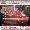 Padrão de tijolo vermelho bobina PPGI/Flor Prepainted PPGI refinadas/bobina de aço