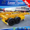 Aotong 골격 반 2개의 차축 20FT 콘테이너 포좌 트럭 트레일러