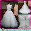 ストラップレスのテュルの夜会服のウェディングドレス