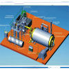 Waste non inquinato Tire Recycling New Pyrolysis Plant a Furnace Oil 10ton Per Day