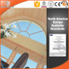 Ventana de cristal modificada para requisitos particulares de la especialidad de madera de la dimensión de una variable, ventana de madera de aluminio de calidad superior, ventana de la especialidad de madera sólida