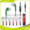 Fone de ouvido quente do MP3 do microfone do fone de ouvido do telefone móvel do verde da venda