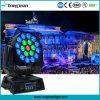 DJ Discoteca iluminação de palco 19*15W LED RGBW deslocamento do feixe luminoso do farol
