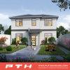 Villa de prefabricados de acero de la luz de casa con el tamaño personalizado