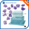 прописные буквы алфавита резца Fondant 40PCS сформировали прессформу торта