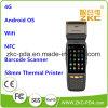 4G explorador androide PDA Handheld del código de barras de la impresora térmica PDA