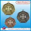 Bronzo antico dell'argento dell'oro della medaglia tutta la medaglia del metallo