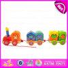Giocattolo di legno brandnew del treno 2016, giocattolo di legno educativo del treno, treno del giocattolo dei capretti, giocattolo di legno bello W05c035 del treno