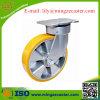 Heavy Duty PU roue et roulette en aluminium de base