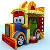 Campo de jogos macio interno seguro do carro excelente do projeto para miúdos