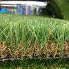 装飾の総合的な擬似草の芝生の人工的な草の泥炭を美化する20mmの高さ18900の密度Leov105の屋上のバルコニーの庭の中庭