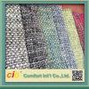 Tissu plat de sofa de modèle fait de fils de polyesters