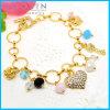 Armband #31485 van het Metaal van de Ring van de Cirkel van de Charme van het Hart van bergkristallen de Gouden