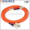 Câble optique de fibre du duplex 50/125 du câble Sc-LC millimètre de pièce rapportée
