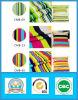Disegni caldi di vendita nel tessuto stampato della tela di canapa barrato poliestere delle azione 65%Cotton 35%