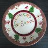 Рождество посуда вручную керамическими Санта пластину (GW1292)
