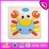 Novo produto quente para 2015 Kids Toy Handheld Puzzle Games, DIY Crianças Toy Jigsaw Puzzle Games, Cartoon Toy Puzzle de madeira W14c089