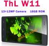 Ursprüngliche Thl W11 Viererkabel-Kern 1g des Affe-König-Smartphone Mtk6589t 1.5GHz DES RAM-16g Doppelkamera 13.0MP Bluetooth ROMdes android-4.2