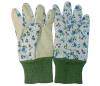 Ходкая садовничая перчатка для женщин при поставленный точки PVC