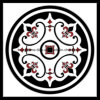 Черный и белый ковер головоломки плитками на полу