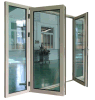 Дверь Casement Toughten термально пролома алюминиевая застекляя внешняя для Hall