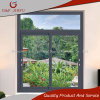 Ventana de cristal doble de aluminio de la ventana de desplazamiento con diseño de la parrilla