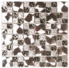 Het multi Mozaïek van het Gebrandschilderd glas van de Tegels van Backsplash van de Keuken van Kleuren