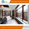 L'efficacité énergétique de l'aluminium porte en bois /Fenêtre avec Low-E, Double Le verre trempé