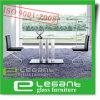 De aangemaakte Lijst van het Diner van het Glas met de Benen van de Legering van het Aluminium