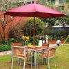 Acero al aire libre de los muebles y vector y silla de madera de cena
