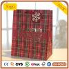 Bolsa de papel Chequered roja del regalo del Patten del día de fiesta de la Navidad,