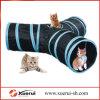 Túnel de la diversión, túnel de tres vías plegable del juguete del gato para jugar
