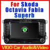 rádio Sat Nav do sistema estereofónico da navegação do GPS do reprodutor de DVD do carro de 6.5 '' HD para Skoda (VSO7088)