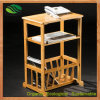 Floor Stands (EB-B4100)를 위한 대나무 Newspaper/Magazine Rack
