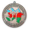 Estampant la médaille plaquée par argent antique creux de logo (GZHY-MB-005)