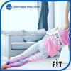 Pantalons faits au hasard de yoga de séance d'entraînement de forme physique de piste de rose serré de guêtres