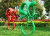 Abstract Beeldhouwwerk, Decoratieve Kunst van Mensen die een Fiets berijden