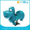 Jouet extérieur d'animal d'hippopotame de jouet de gosse de curseur de ressort de matériel de cour de jeu