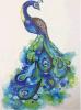Цветастый голубой Tattoo искусствоа стикера Tattoo пера кабеля павлина временно