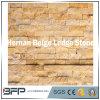 Pedra de mármore bege da cultura da pedra da borda de Hernan para a parede da caraterística