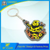 Corrente chave da borracha do PVC da novidade / Tag grossista alaranjado da etiqueta chavea para o presente da lembrança (XF-KC-P23)