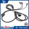 1 a 3 IP68 impermeabilizan el cable de goma con el conector para el LED