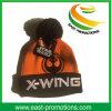 Подгонянный акриловый Cuffed шлем связанный зимой с верхней частью шарика