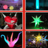 Produtos de publicidade insuflável comercial inflável com pilares de Luz