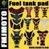 2014 universal Motorcycle Oil Tank Pad Cover Tank Protetor Decal Sticker para Honda YAMAHA Suzuki Kawasaki com Red R Logo