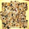 Mattonelle Polished della pietra del mosaico di colore giallo di alta qualità