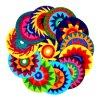 Il Crochet della mano ha lavorato a maglia il Frisbee, il disco dell'interno di volo, Frisbee di volo del Crochet