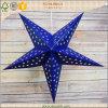 5 puntos populares estrellas de papel de Navidad colgante azul