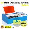 De Laser die van Co2 de Controle van de Computer van de Scherpe Machine 40W graveren